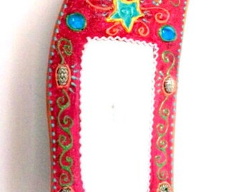 Vanity mirror ' turquoise' 17 star x 38 cm for the bedroom, living room bathroom, it will bring a note