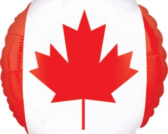 Canada Flag Balloon, Canadian Flag Balloon 18""