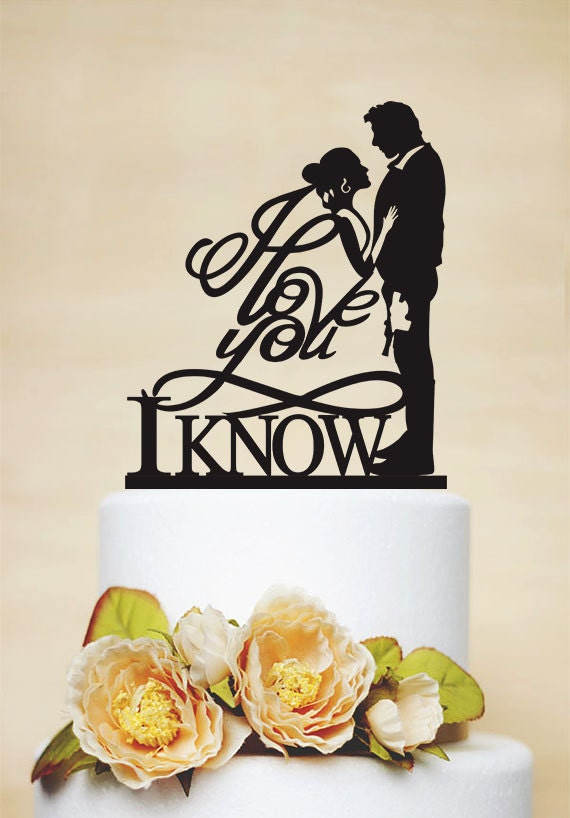Star wars wedding cake topper i love you i know cake topper junglespirit Gallery