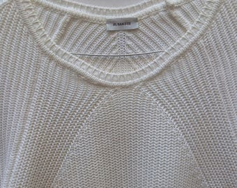 JIL SANDER White Cotton Knit