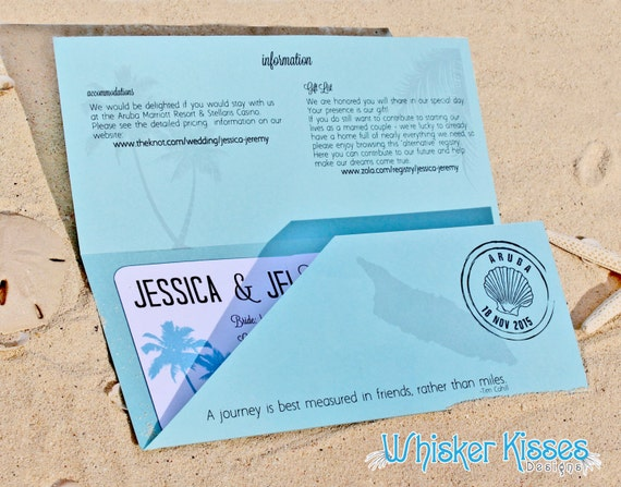 Boarding Pass Wedding Invitation Save the Date Travel Theme