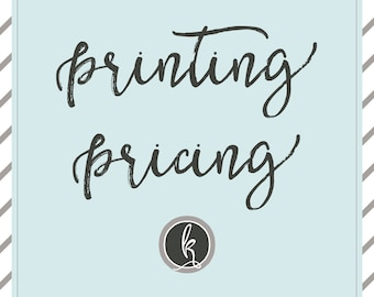 PRINTING  PRICE LIST  | Please do not purchase