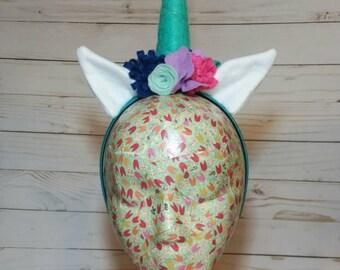 Unicorn Headband, Unicorn Horn, Unicorn Costume, Unicorn Headpiece, Unicorn Party Hat, Teal Pink Blue