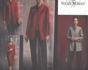 Womens Jacket, Top, Dress, Skirt & Pants OOP Vogue Sewing Pattern 2771 Size 8 10 12 Bust 31 1/2 to 34 UnCut The Vogue Woman Patterns
