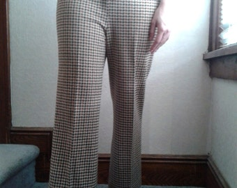 1970s Vintage Houndstooth Pant- size M