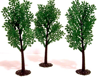 6 Tree Cupcake Toppers