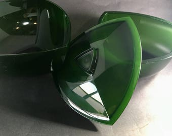 Tupperware Triangular Nesting Bowls Sheerly Elegant Illusions Green