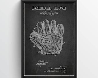 1924 Baseball Glove Patent Wall Art Poster, Baseball Print, Baseball Decor, Baseball Poster, Home Decor, Gift Idea, SPBA09P