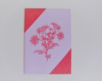 Card bouquet of flowers red / pink  all occasions