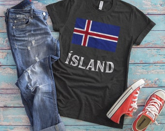 Iceland T-Shirt, Unique Iceland Gift, Iceland Soccer Fan Gift, Flag Travel Shirt, Country Flag, Nationality, Reykjavik, Country Pride