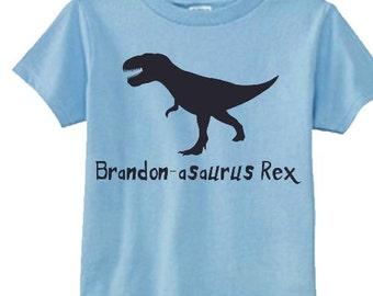 t rex shirt name, personalized T rex shirt, t-rex kids tees, t  rex boys shirts, toddler dinosaur shirt name, t rex kids tees