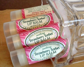 Strawberry Sorbet -  Lip Balm, Lip Balm, Strawberry, Lips