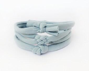 Baby Knot Headband, Newborn Headband, Baby Shower Gift, Skinny Knot Headband, Knotted Headband, Hair Bow, Baby Top Knot, Blue Headband