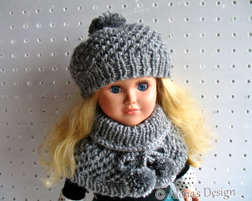 Knitting Pattern 2 PC Set for 18 inch Doll Knitting Patterns