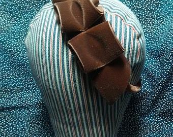 Bandeau Headdress in Chocolate Brown Velvet - by Anna Worden Bauersmith