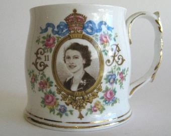 Vintage Royal Albert Coronation Mug Queen Elizabeth II 1953