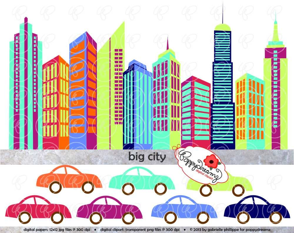 big city digital skyscraper clip art skyscrapers tall rh etsy com