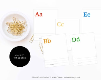 """Alphabet Coloring Pages, 5""""x7"""", ABC coloring pages, printable, instant download"""