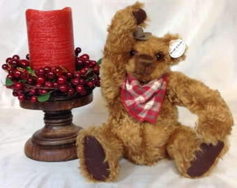 """11"""" Steiff Schulte Mohair Teddy Bear """"Wild Bawlin' Billy Bear"""" Perfect Gift for Adults of All Ages/ Gift Ready Packaging/Ready to Ship! WOW!"""