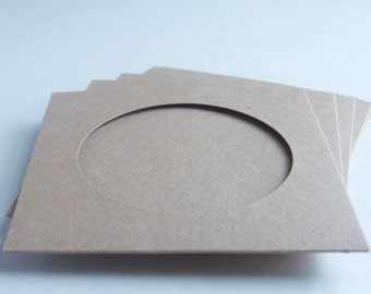 Sets of CD Kraft Sleeve with Window, no Logo Imprint- set of 10, 25, 50, 75, 100 or 150