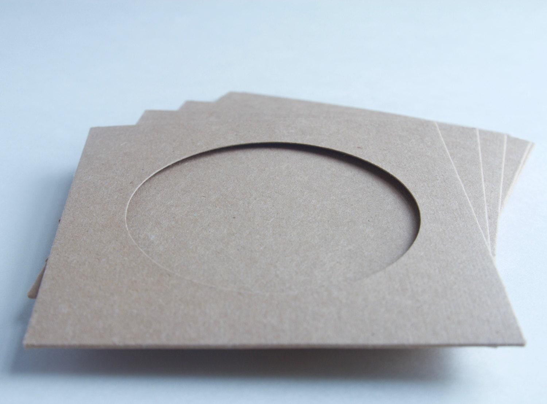 Sets Of Vinyl Record Kraft Sleeve With Window No Logo