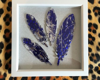 Box frame feather piece