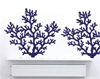 Wall decals large CORAL REEF BRANCH Vinyl art interior decor by Decals Murals (30x34)