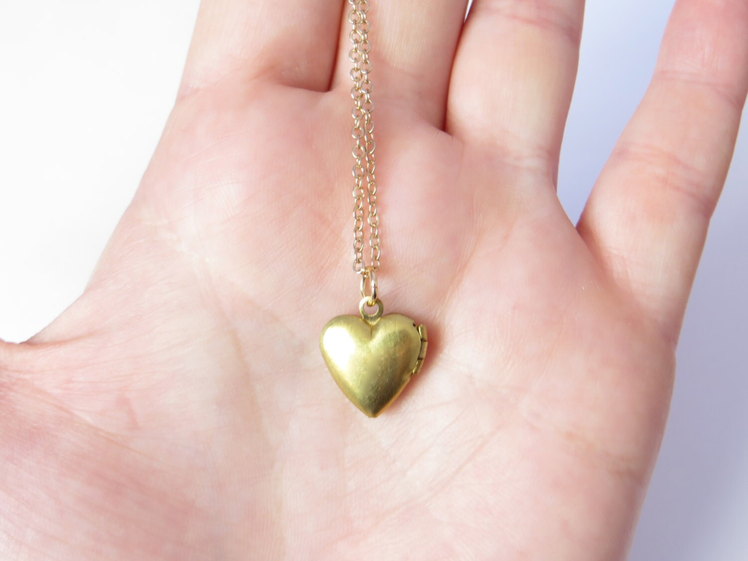 Heart locket necklace small gold heart locket tiny locket zoom aloadofball Choice Image