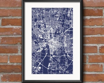Columbus map art print columbus ohio city street map columbus map art print blueprint columbus poster columbus art columbus print malvernweather Choice Image