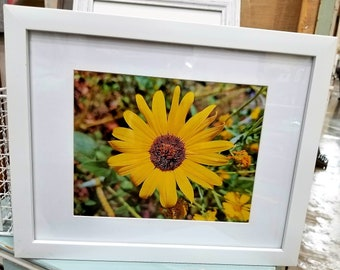 8x10 metal photo in frame ready to hang