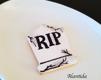 Fake Halloween Cookie RIP Faux Cookie Halloween Cookies Halloween Candy