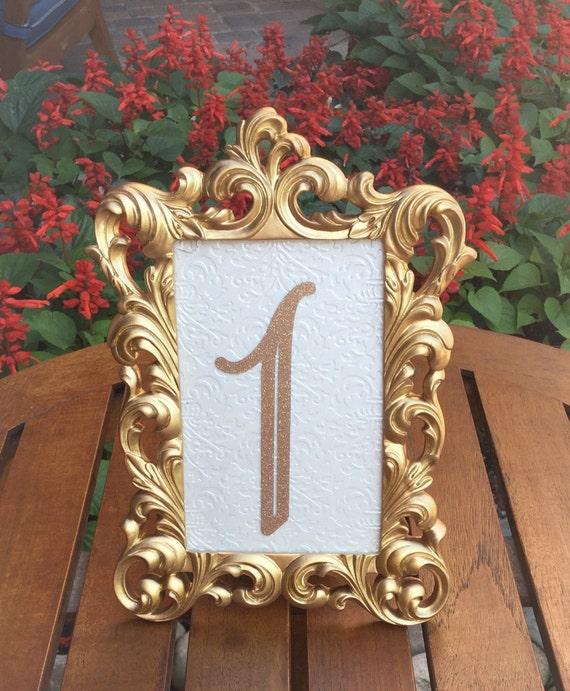 Table number frames 4 x 6 gold wedding frames ornate baroque
