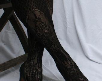 Black Satin Heels / Pumps with Rhinestones, Andrew Geller, vintage 1960s, size 7-8 narrow