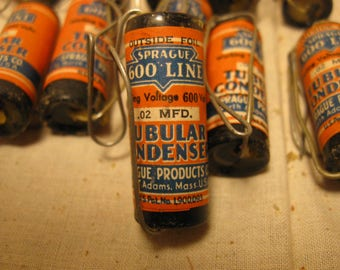 Steampunk Vintage USA NASA Rocket Lot of (15) Tubular Condensers Collectible
