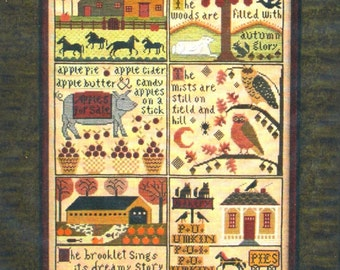 Autumn at Hawk Run Hollow by Carriage House Samplings Counted Cross Stitch Pattern/Chart