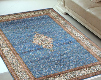 Persian design Pure Silk Medallion Carpet