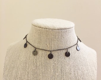 Gunmetal Dangle Choker