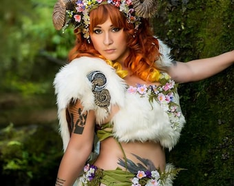 Entire Maenad Horned Faerie Costume Ensemble