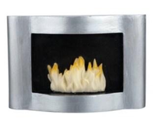 Dollhouse Miniature Wall Mount Framed Fireplace. 1:12 Scale