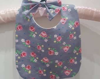 Baby Bib and Bobble Set, Childrens Bib, Baby Bib, Bespoke, Floral, Gifts for Newborns, Babies, Big Sister Gifts, Matching