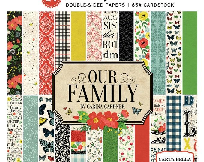 Carta Bella OUR FAMILY 6x6 Scrapbook Paper Pad