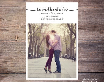 Save the Date Postcard, Save-the-Date Card, Calendar, Photo, DIY Printable, Digital File – Henley