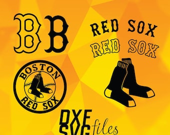 Boston Red Sox logos in SVG / Dxf / Png files INSTANT DOWNLOAD!