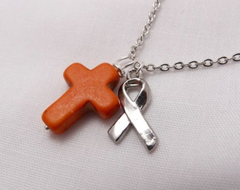 FIND A CURE Multiple Sclerosis Cross Necklace
