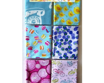 Spring Chick, Ispy 6Pc Fat Quarter Bundle - Cotton Benartex Fabric 18inx 21in