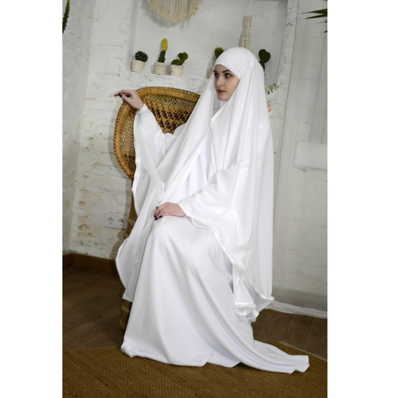 White Wedding Khimar Modern Burqa Bridal Burka Muslim Cape