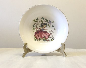 Cute Alfred Meakin Little Bo Peep bowl, child's nursery bowl, new baby gift, christening gift, nursery rhymes, baby girl gift, china bowl
