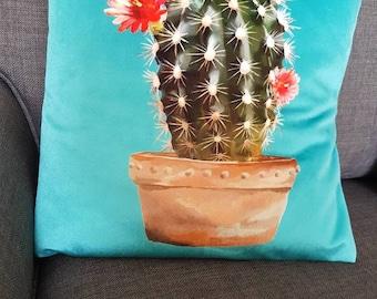 "Cactus cushion cover 16"""