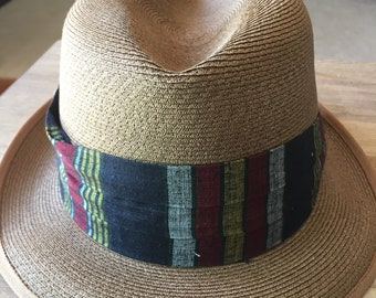 Vintage Fifth Avenue of New York Straw Fedora- Size 7 1/8