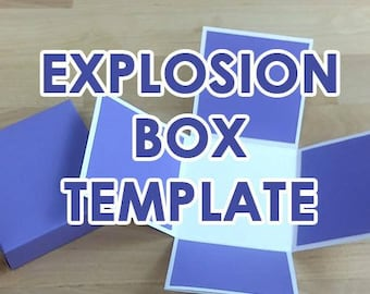 Paper Gift Box Template SVG PDF Exploding Explosion Box Template 2.75x2.75""